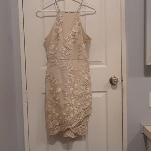 Dresses - Gold floral going out dress